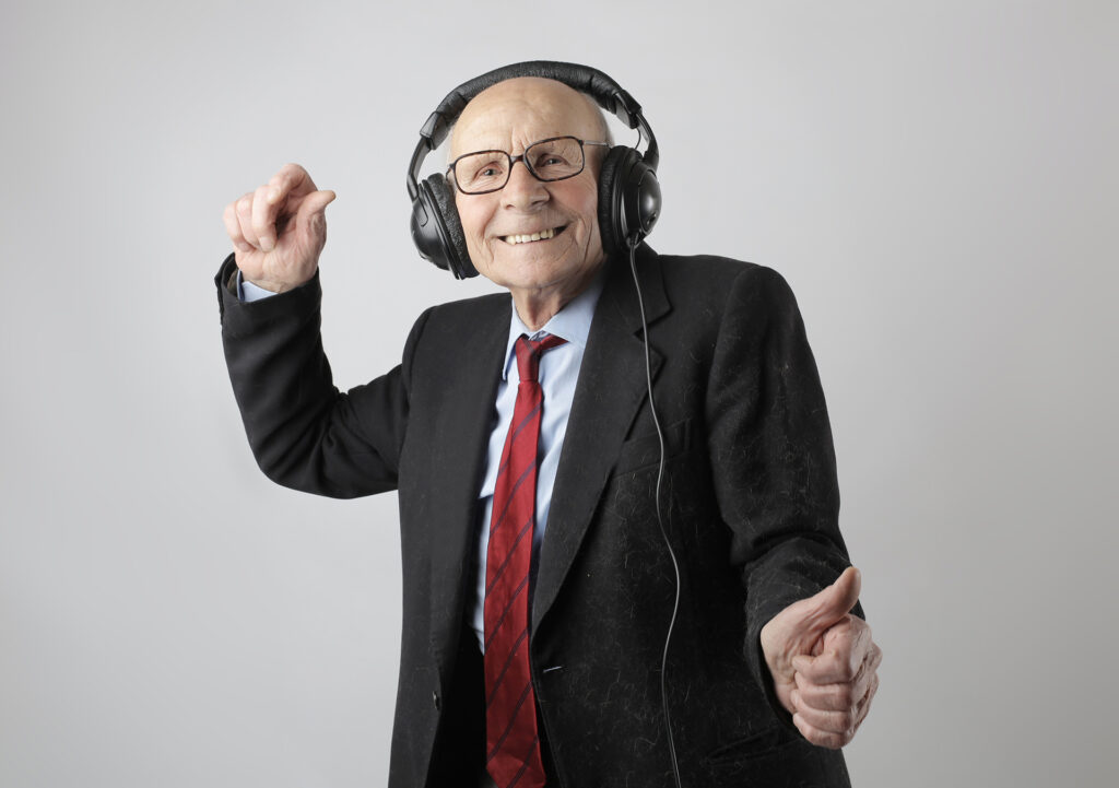 Old man dancing. Hearing loss levels. Hearing Loss Help - Forums and Discussions